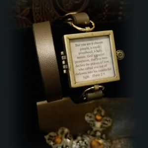 SCRIPTURE MEMORY BRACELET W/ INSERTS THICK BAND